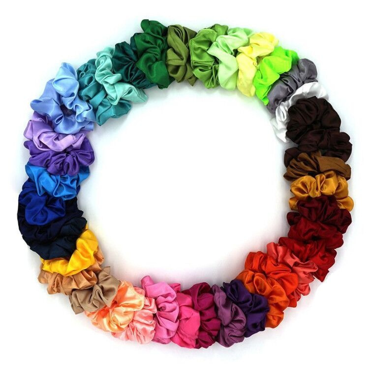 Satin Hair scrunchies